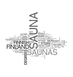 A look at finnish saunas text word cloud concept vector