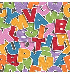 alphabet pattern vector image vector image