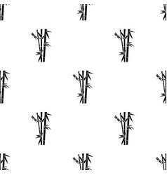 Bamboo icon in black style isolated on white vector