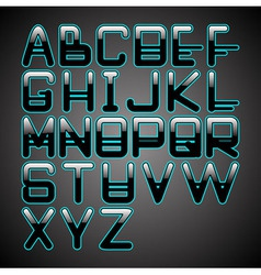blue glow font vector image