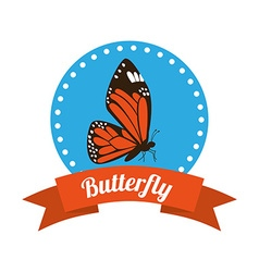 Butterfly silhouettes design vector