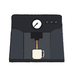 Coffee making machine icon imag vector