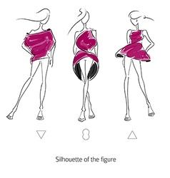 Fashion model silhouette vector