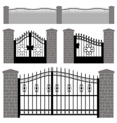 Gate doors vector