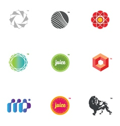 Graphic icons and logos vector