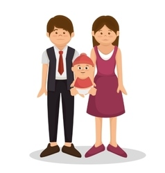group family members characters vector image