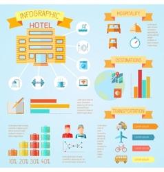 Hotel infographics vector