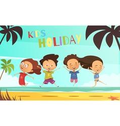 Kids holiday flat vector