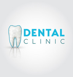 Logo for dental clinic with polygonal tooth vector