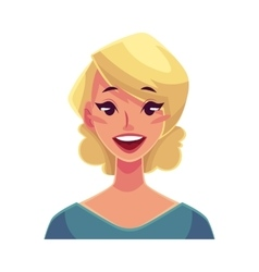 Pretty blond woman wow facial expression vector
