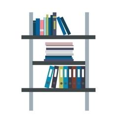 Rack with binders in flat design vector