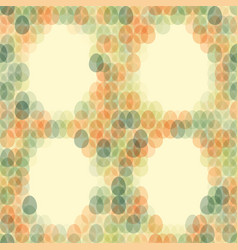 Seamless pattern easter card on light background vector