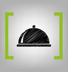 server sign black scribble vector image vector image