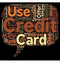 Should your student get a student credit card text vector