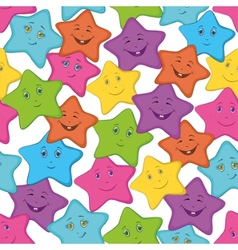 smilies stars vector image