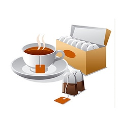 tea bags vector image