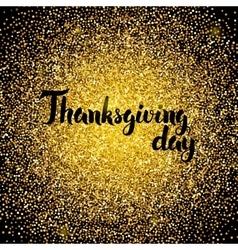 Thanksgiving day gold design vector