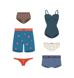 Underwear clothes set vector image vector image