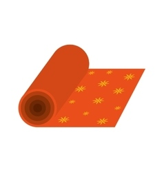 Textile fabric roll vector