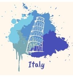Italian emotive motive with historical attractions vector