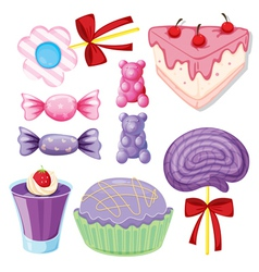 Various sweets vector