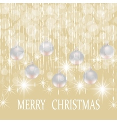 Christmas new year holiday card with silver balls vector