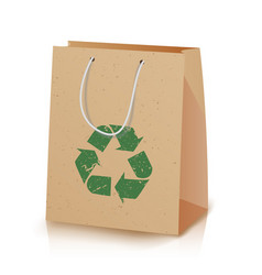 Recycling paper bag of recycled vector
