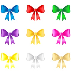 Color bow vector