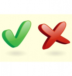 3D checkmarks icon vector image vector image