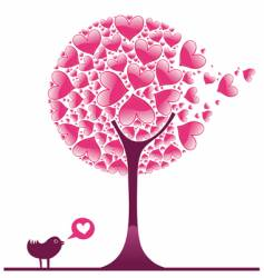 Valentine decorative tree vector