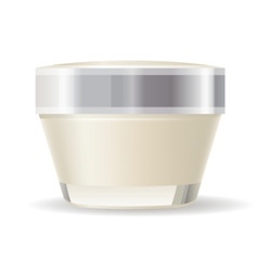 Cream container isolated vector