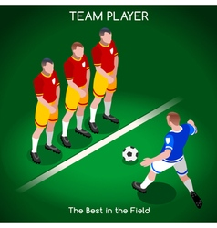 Football 02 people isometric vector