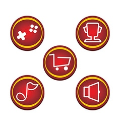 Red glossy market button vector