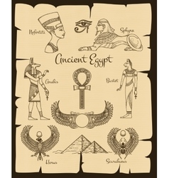 Ancient egypt symbols vector