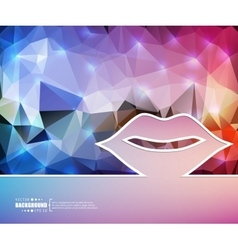Creative mouth art template vector