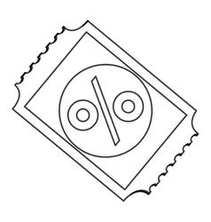 Discount ticket percenrtage icon vector