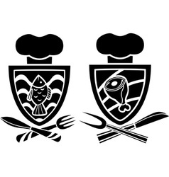 Culinary emblem two variants vector