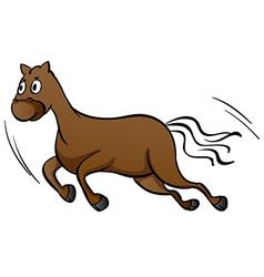 A horse running vector