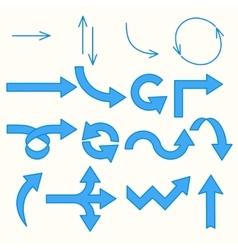 Arrows blue line vector