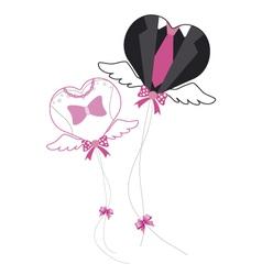 Balloon for Wedding vector image vector image