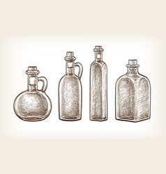 bottles of olive oil vector image vector image