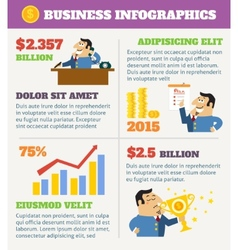 Business life infographics vector image vector image