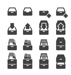 Cabinet icon set vector