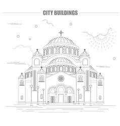 City buildings graphic template belgrad cathedral vector