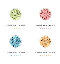 Cosmetic Logo Seasonal Design Collection vector image vector image