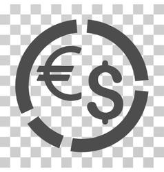 Currency diagram icon vector
