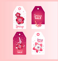 Flowers decoration element spring label vector