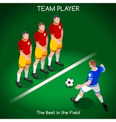 Football 02 people isometric vector