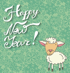 Greeting card with sheep vector image