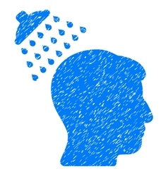 Head shower grainy texture icon vector